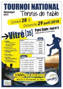 Tournoi national de vitre ligue de bretagne de tennis de table - Ligue de bretagne de tennis de table ...