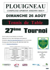 Tournoi ete 2018 plouigneau ligue de bretagne de tennis de table - Ligue de bretagne de tennis de table ...