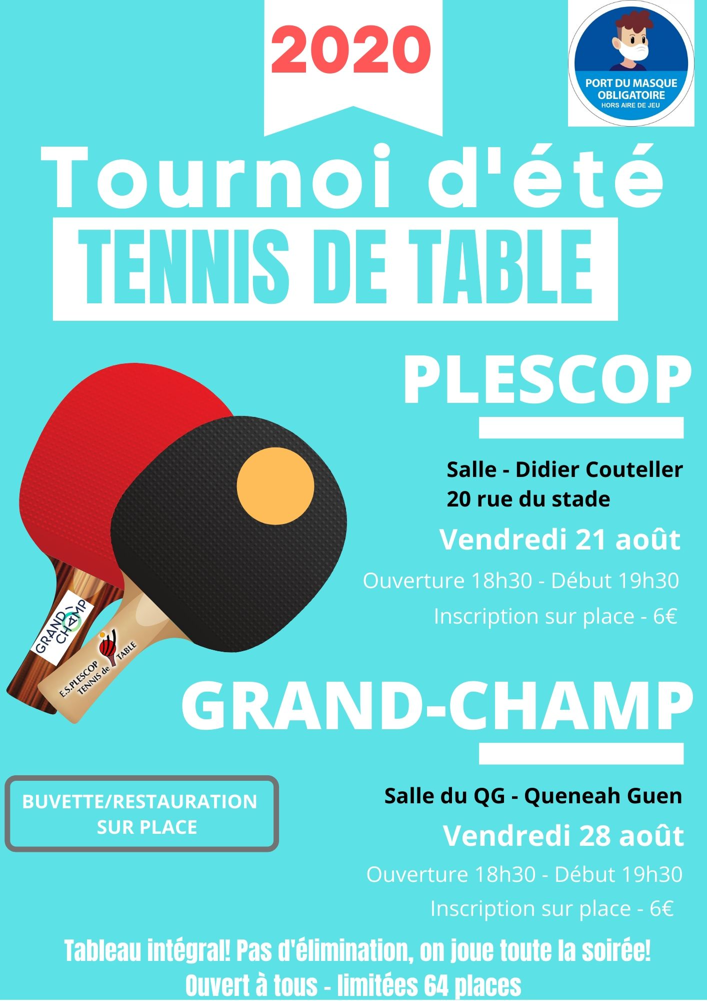 Tournois D Ete Dans Le Morbihan Ligue De Bretagne De Tennis De Table