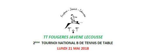 Tournoi national de fougeres javene lecousse ligue de - Ligue de bretagne de tennis de table ...
