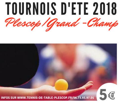 Tournoi d 39 ete 2018 plescop grand champ ligue de bretagne de tennis de table - Ligue de bretagne de tennis de table ...
